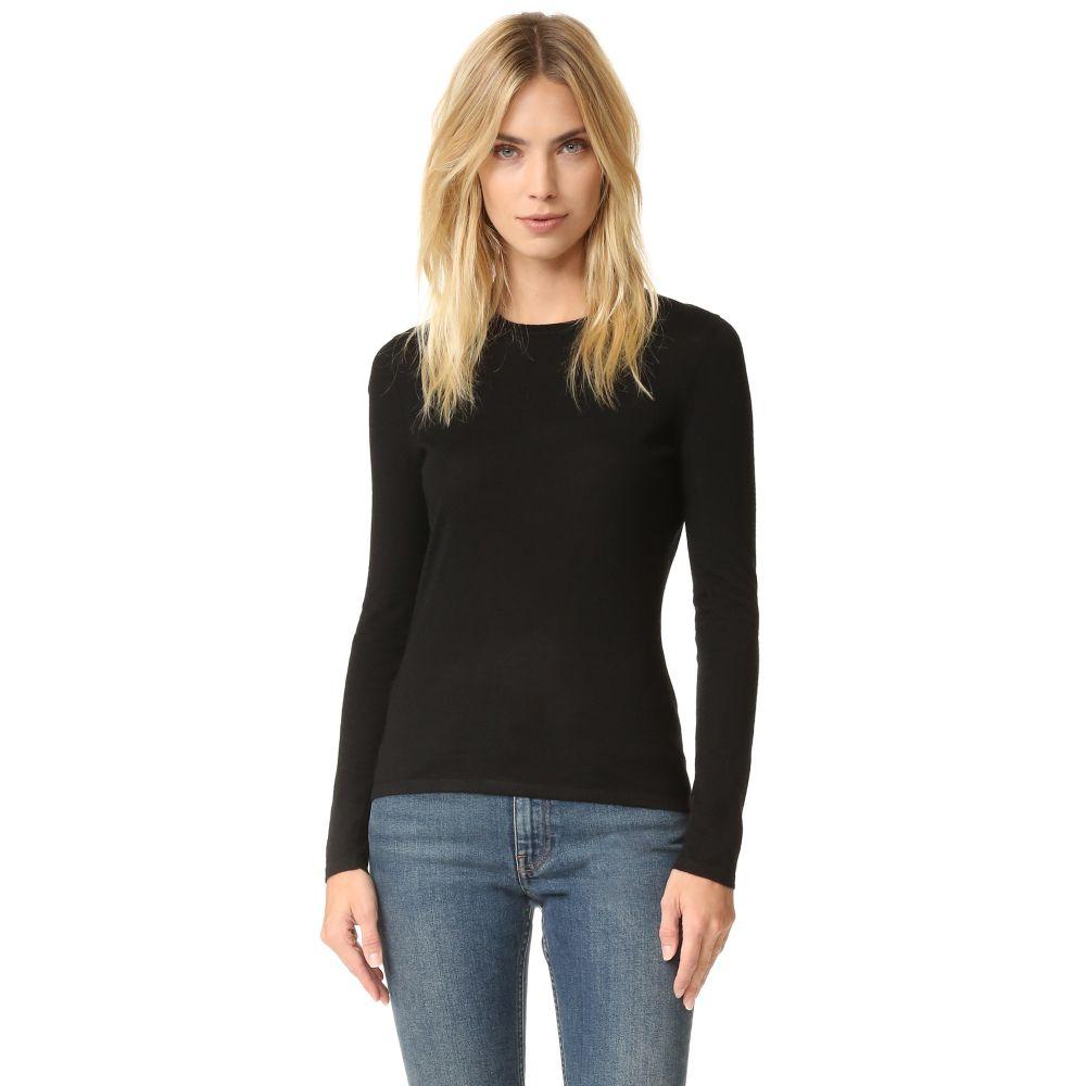 セイ TSE Cashmere レディース ニット・セーター トップス【Crew Neck Cashmere Sweater】Black