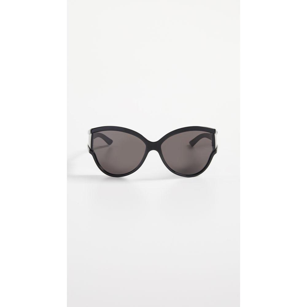 バレンシアガ Balenciaga レディース メガネ・サングラス マスク【Unlimited Soft Mask Sunglasses】Shiny Black with Grey Solid Le