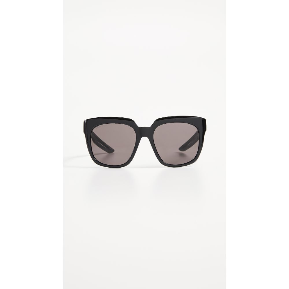 バレンシアガ Balenciaga レディース メガネ・サングラス 【Hybrid Acetate Sporty Sunglasses】Black with Grey Solid Lens
