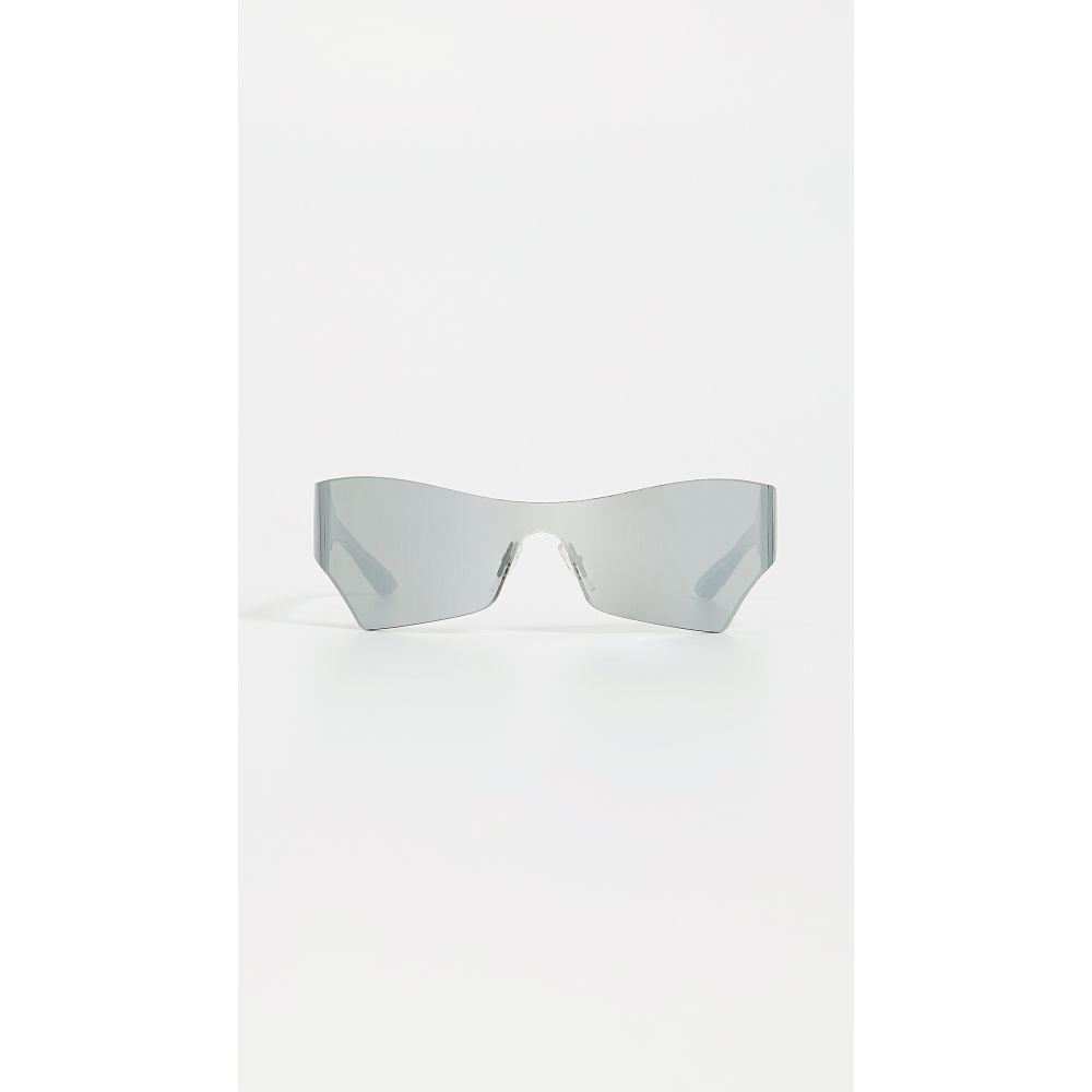 バレンシアガ Balenciaga レディース メガネ・サングラス 【Mono Futuristic Sunglasses】Solid Grey with Mirrored Lens