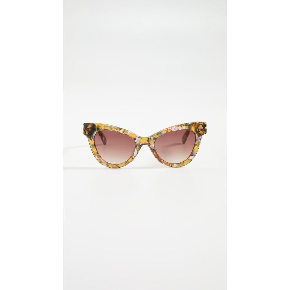 レレ サドイ Lele Sadoughi レディース メガネ・サングラス 【Uptown Cateye Sunglasses】Amber Confetti
