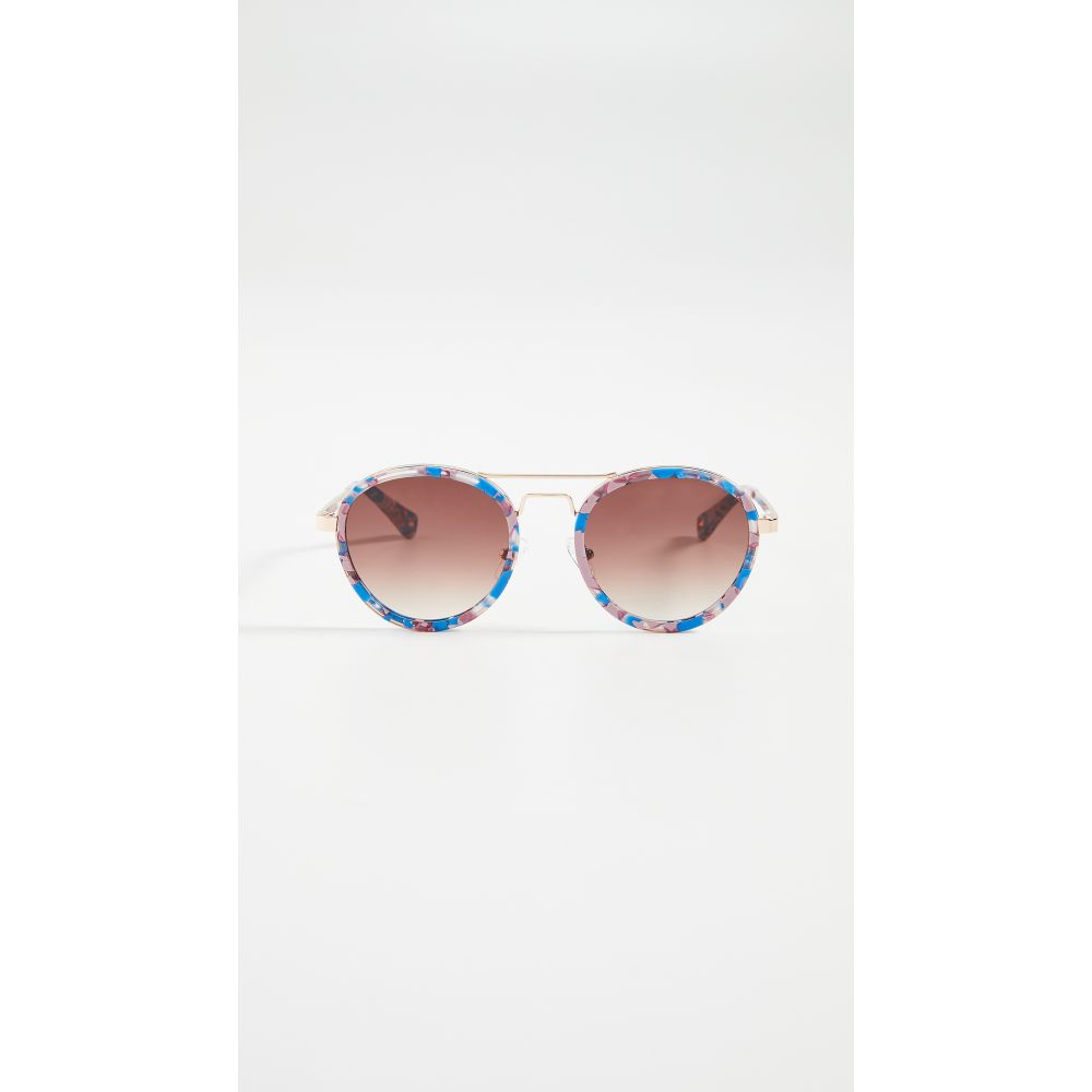 レレ サドイ Lele Sadoughi レディース メガネ・サングラス アビエイター【Downtown Aviator Sunglasses】Sunset Blue