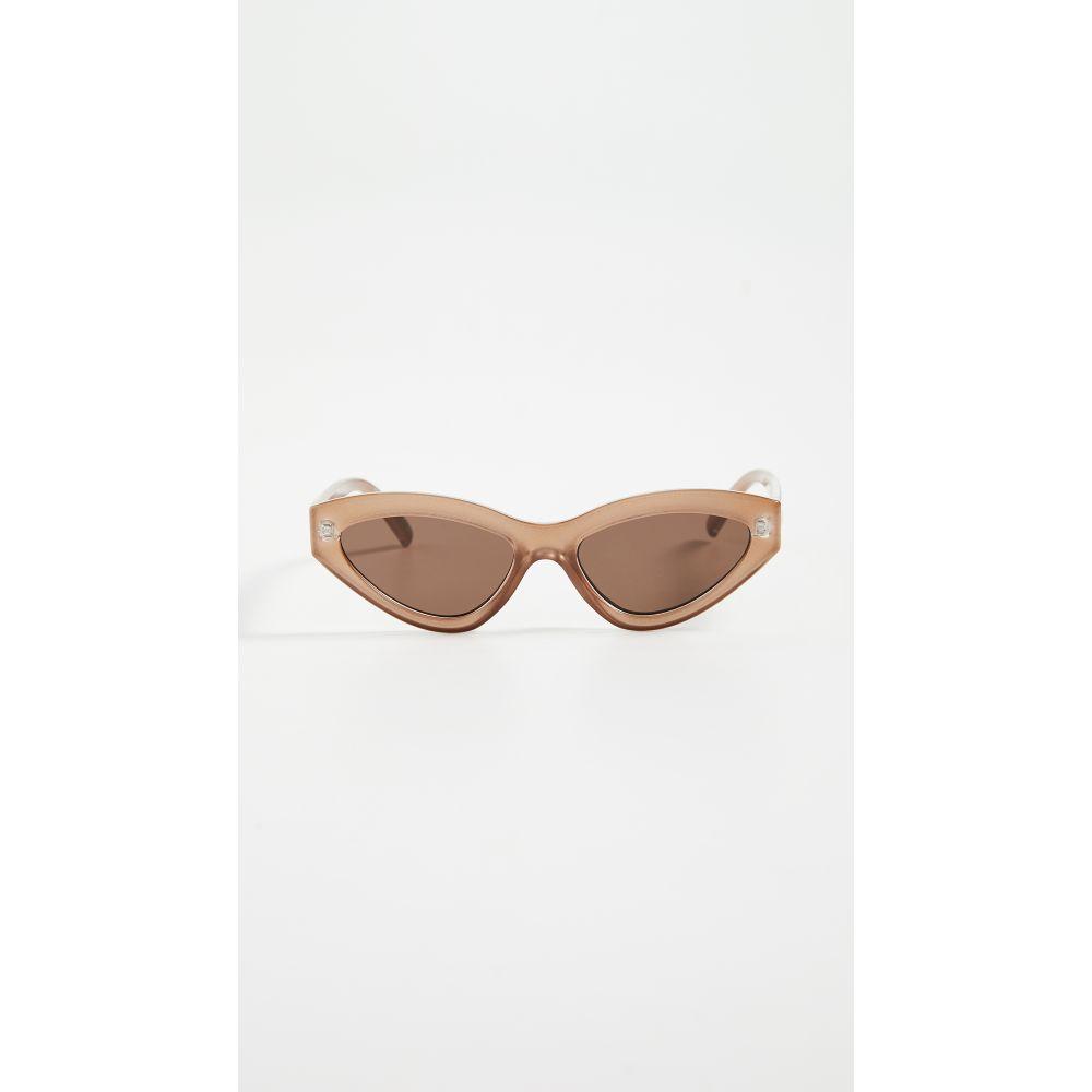 ル スペックス Le Specs レディース メガネ・サングラス 【Synthcat Sunglasses】Gold Shimmer/Brown Mono