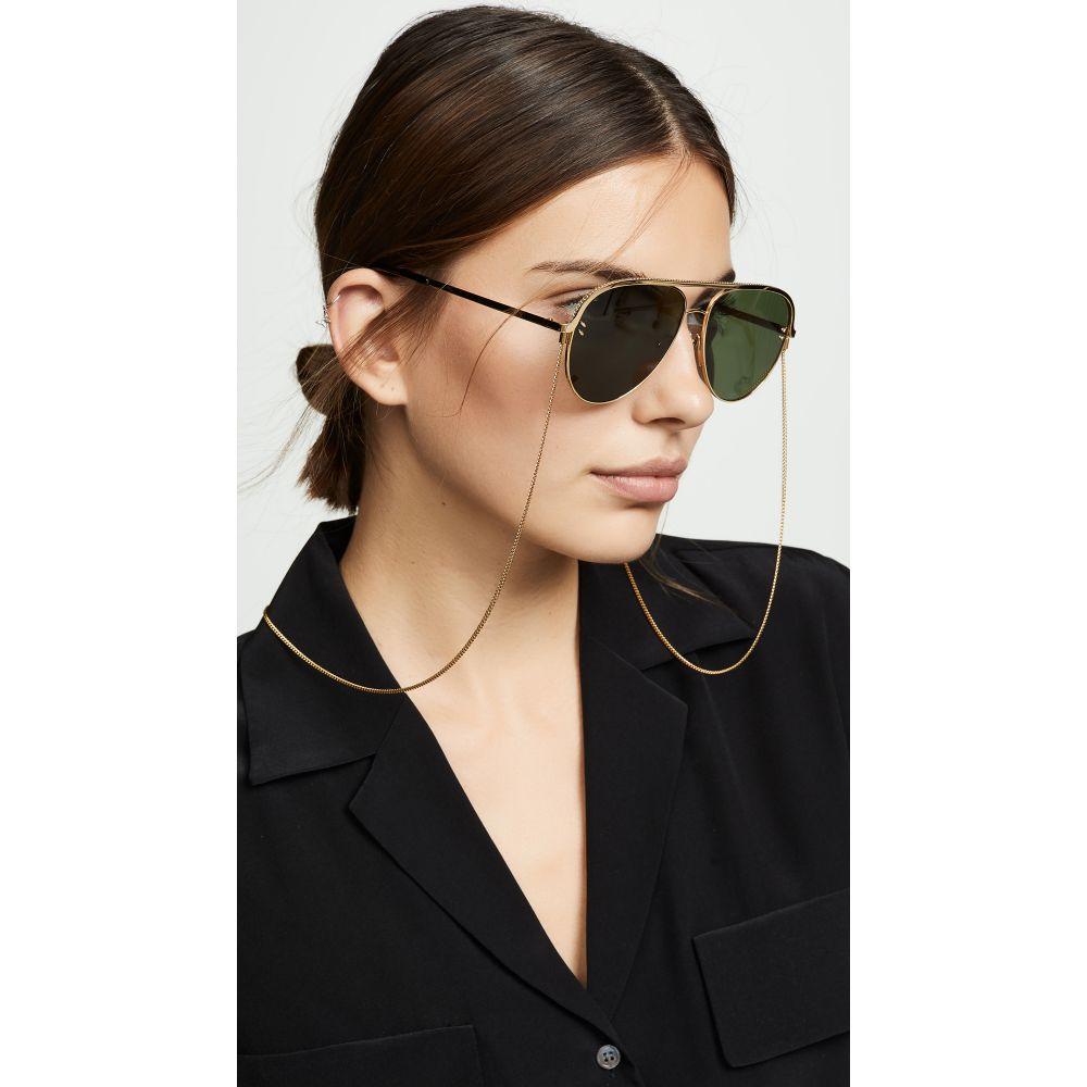 ステラ マッカートニー Stella McCartney レディース メガネ・サングラス 【Double Bridge Pilot Sunglasses】Gold/Green