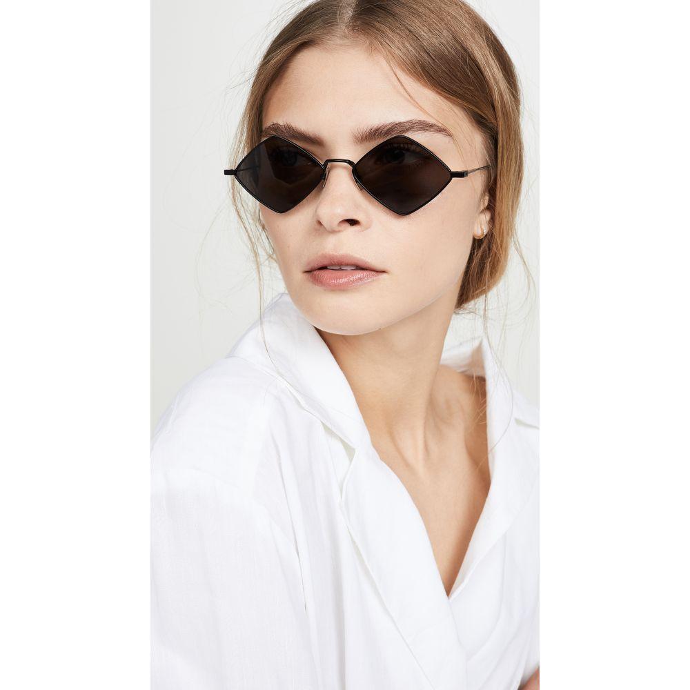 イヴ サンローラン Saint Laurent レディース メガネ・サングラス 【Lisa Metal Cat Eye Sunglasses】Black/Grey