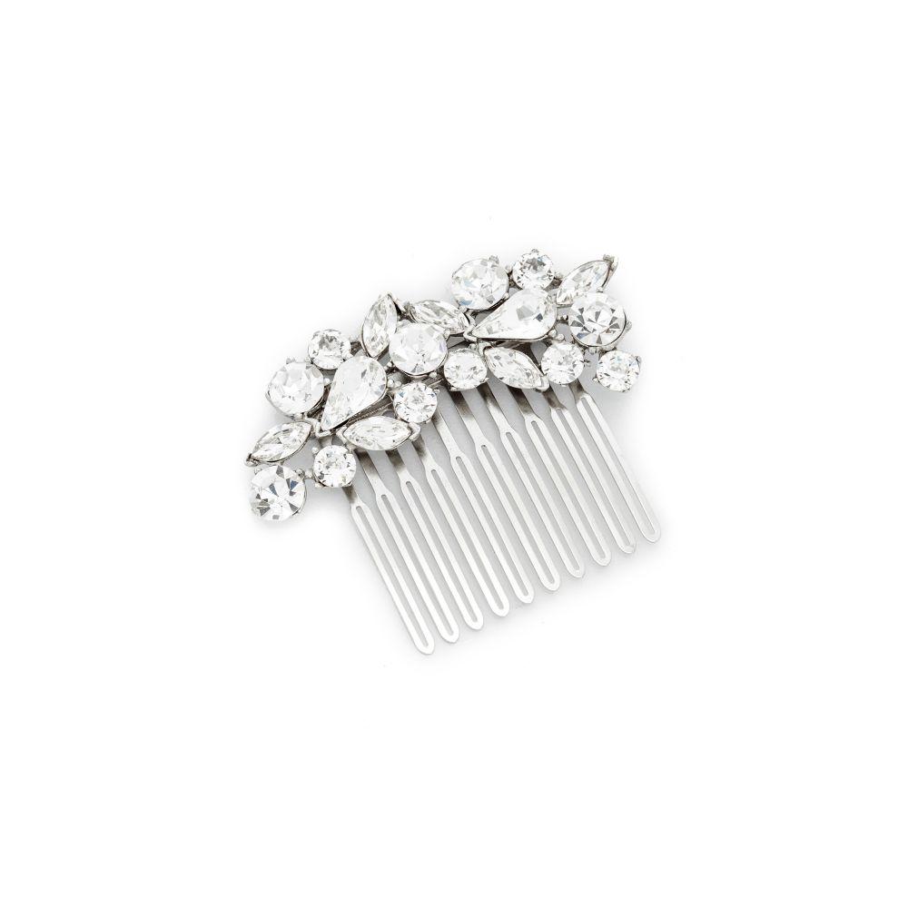 ベンアムン Ben-Amun レディース ヘアアクセサリー 【Crystal Cluster Hair Comb】Clear/Silver