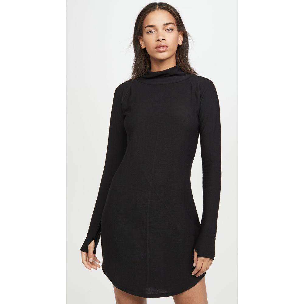チェイサー Chaser レディース ワンピース ミニ丈 ラグラン ワンピース・ドレス【Cozy Knit Long Sleeve Raglan Turtleneck Mini Dress】True Black