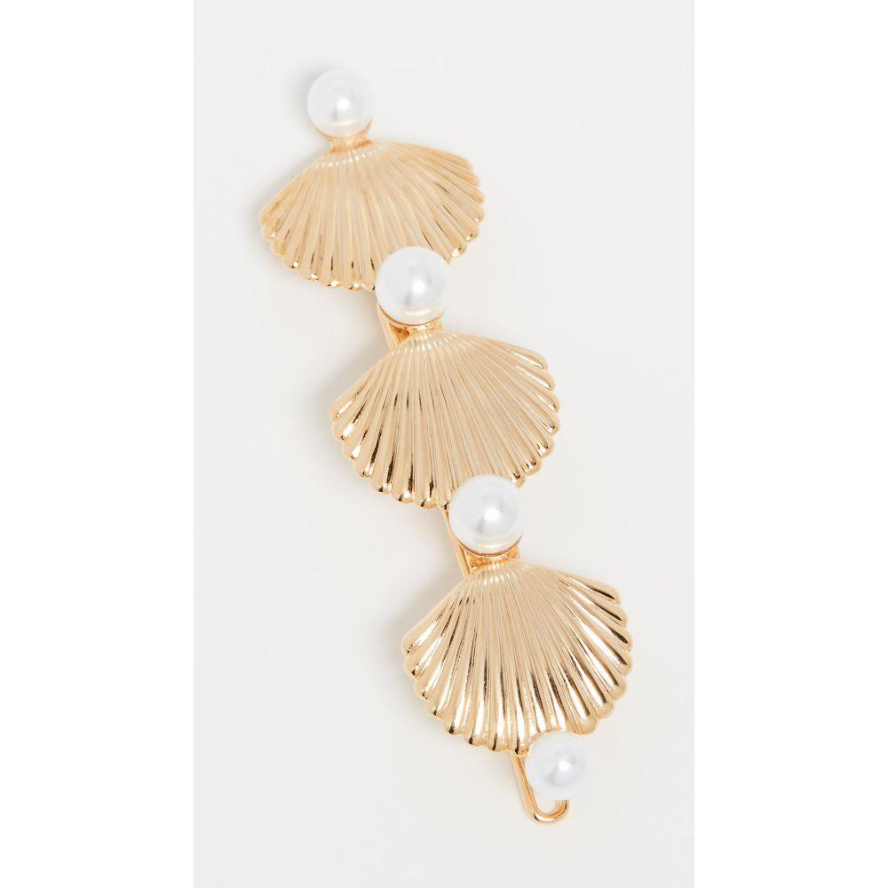 レレット LELET NY レディース ヘアアクセサリー バレッタ【Linear Pearl & Shell Barrette】Gold