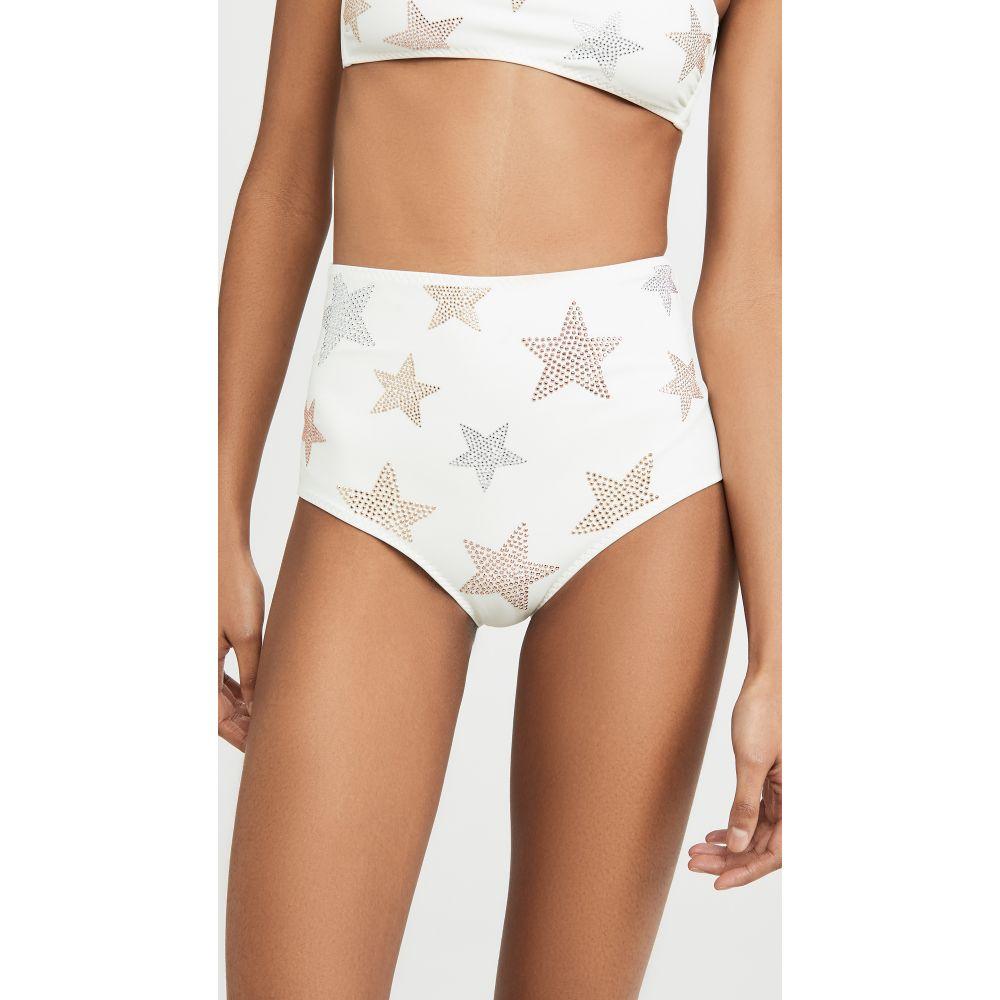 ステラ マッカートニー Stella McCartney レディース ボトムのみ 水着・ビーチウェア【Studded Stars High Waist Bikini Bottom】Ivory