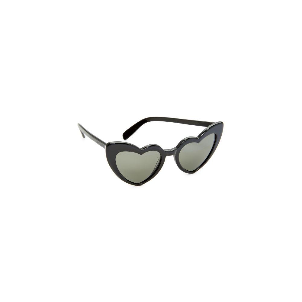 イヴ サンローラン Saint Laurent レディース メガネ・サングラス 【SL 181 Lou Lou Hearts Sunglasses】Black/Grey