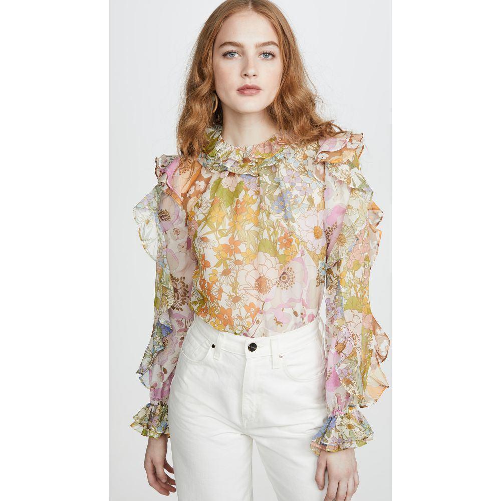 ジマーマン Zimmermann レディース ブラウス・シャツ トップス【Super Eight Ruffle Shirt】Mixed Floral