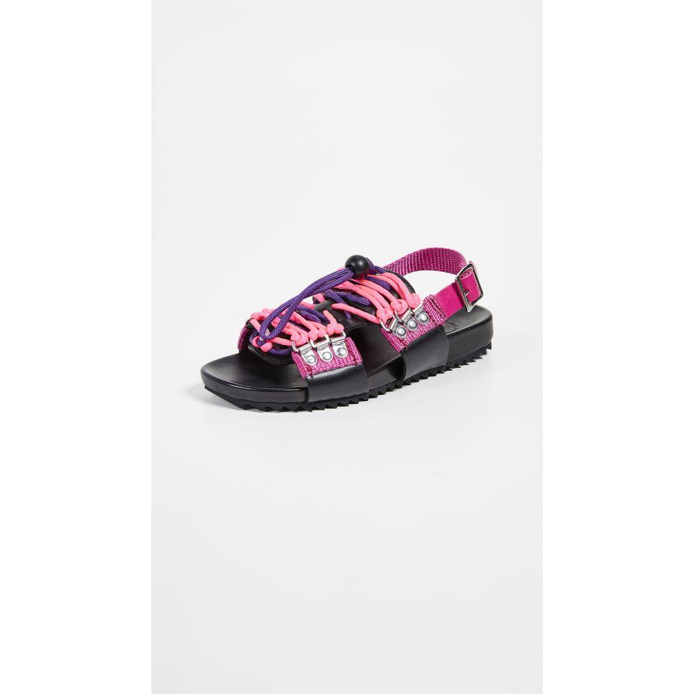 グレンソン Grenson レディース サンダル・ミュール シューズ・靴【x House of Holland Willa Sandals】Black/Pink