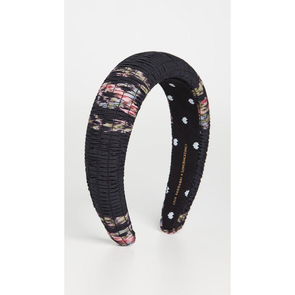 レレ サドイ Lele Sadoughi レディース ヘアアクセサリー ヘッドバンド【x LOVESHACKFANCY Shirred Headband】Black Coffee
