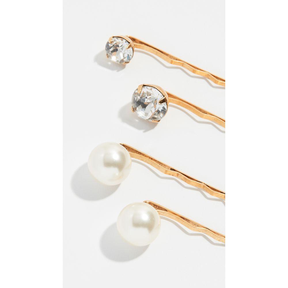 ジェニファーベア Jennifer Behr レディース ヘアアクセサリー 【Gigi Bobby Pins set of 4】Crystal Antique Gold