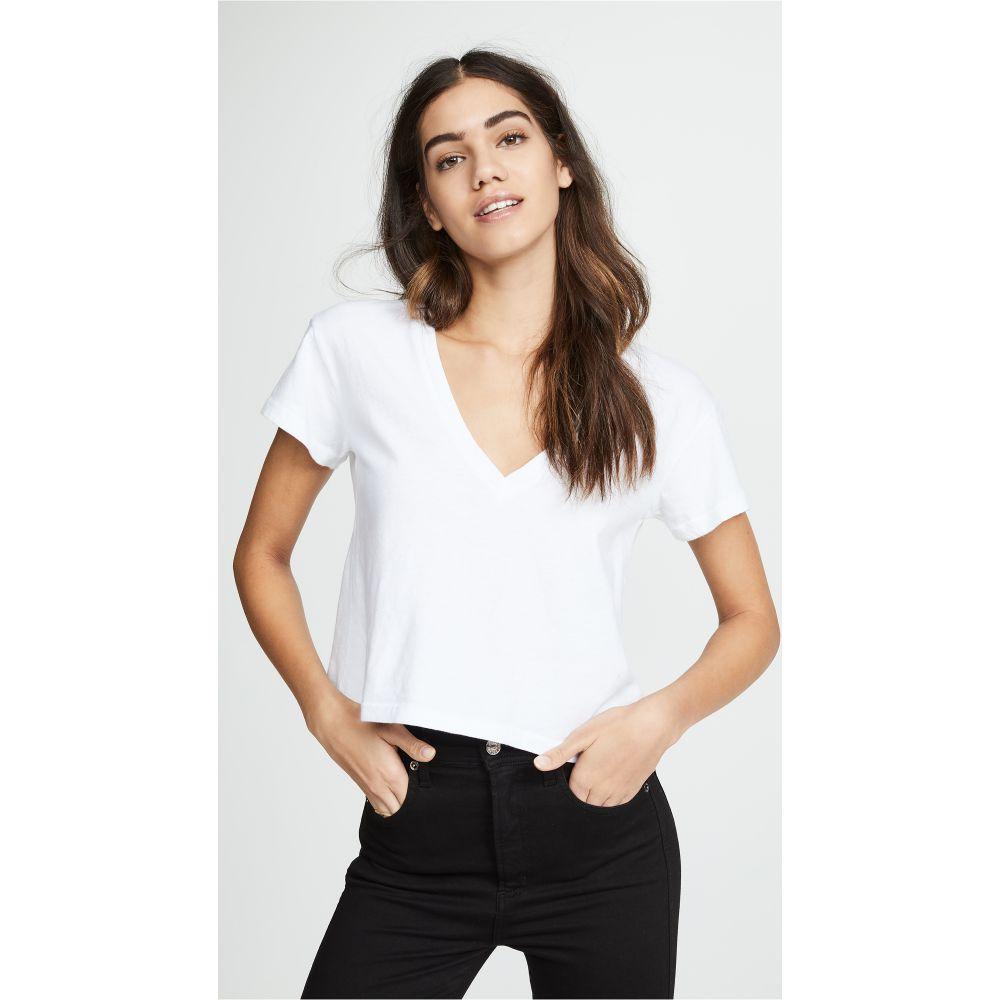 エルエヌエー LNA レディース Tシャツ Vネック トップス【Essential Sparks V Neck Tee】White