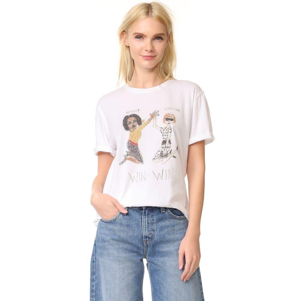 アンフォーチュネイト ポートレート Unfortunate Portrait レディース Tシャツ トップス【Win-Win Tee】White