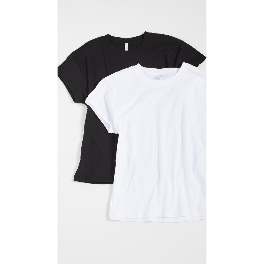ゼットサプライ Z Supply レディース Tシャツ トップス【Modern Crew Tee Pack】Black/White