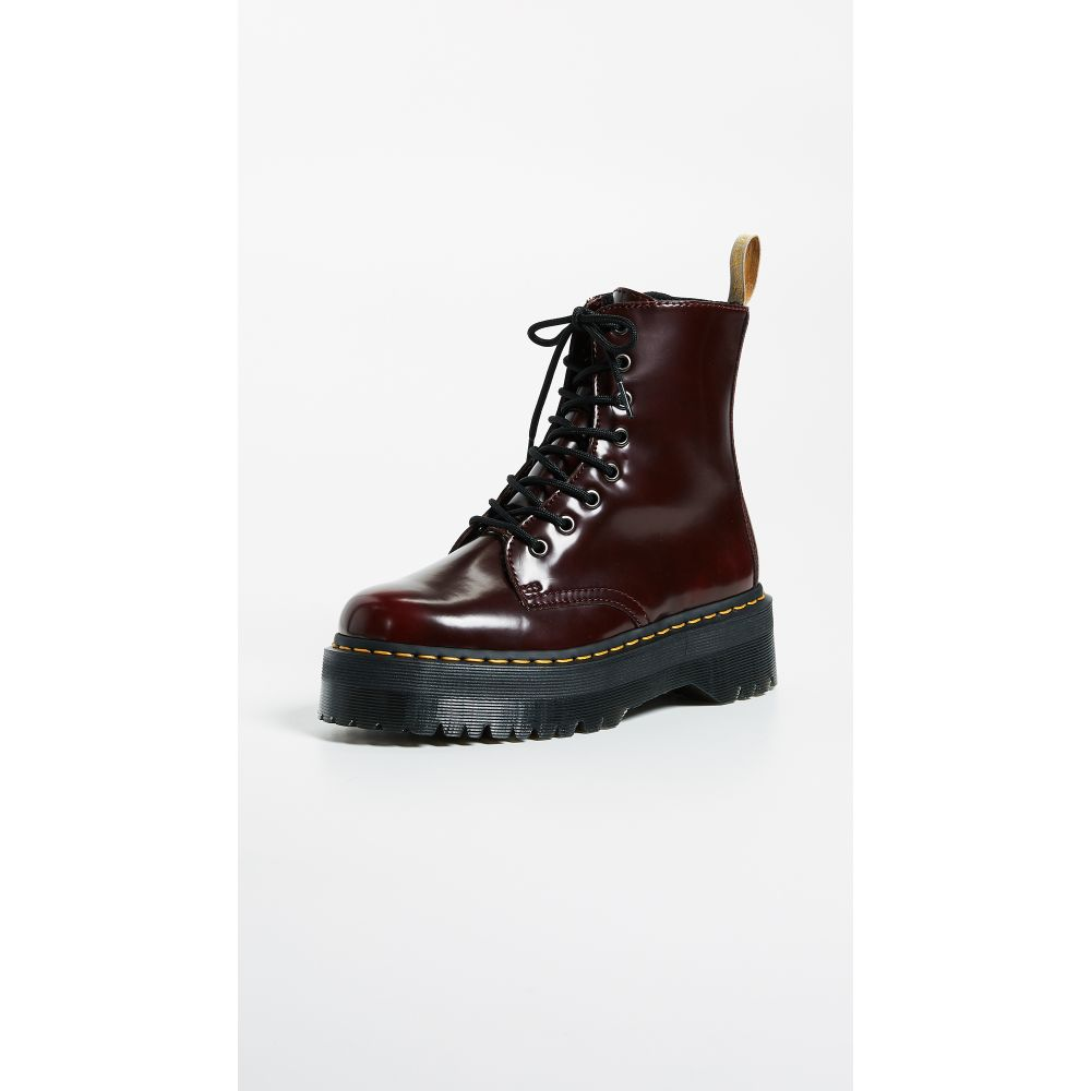 ドクターマーチン Dr. Martens レディース ブーツ シューズ・靴【Vegan Jadon II 8 Eye Boots】Cherry Red