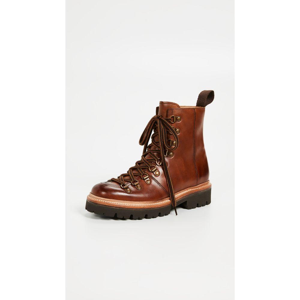 グレンソン Grenson レディース ブーツ コンバットブーツ シューズ・靴【Nanette Combat Boots】Tan Handpainted