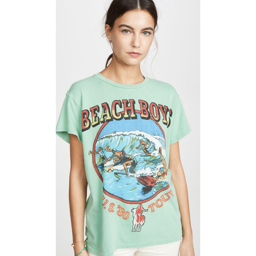 メイド ウォーン MADEWORN ROCK レディース Tシャツ トップス【Beach Boys Tee】Leaf Green
