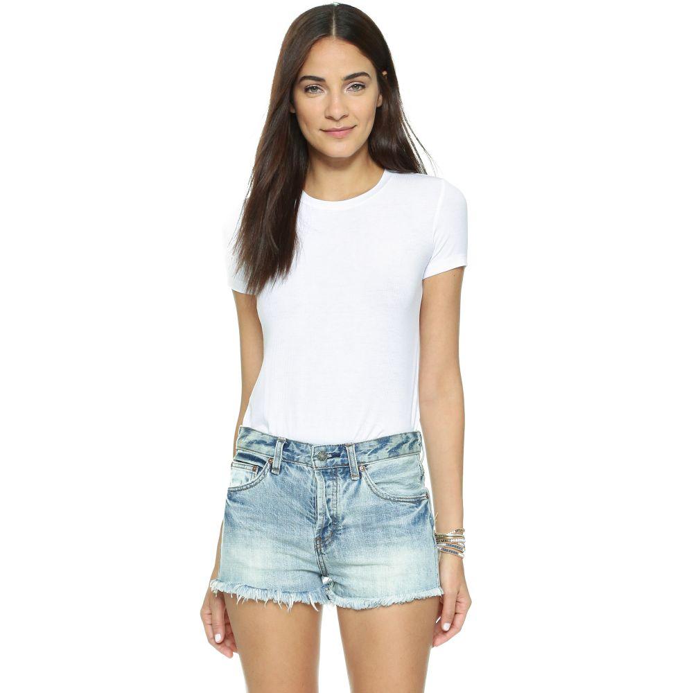 オンリー ハーツ Only Hearts レディース ボディースーツ インナー・下着【Rib T-Shirt Bodysuit】White