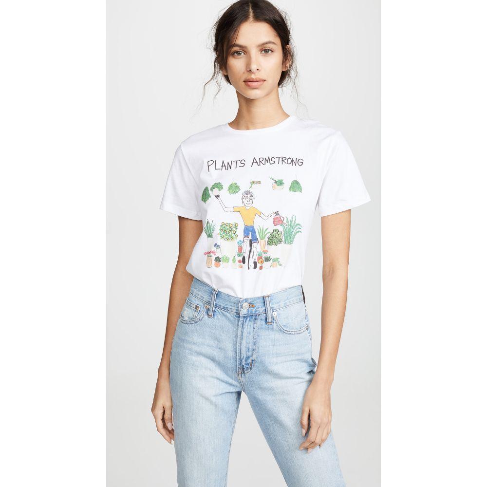 アンフォーチュネイト ポートレート Unfortunate Portrait レディース Tシャツ トップス【Plants Armstrong T-Shirt】White