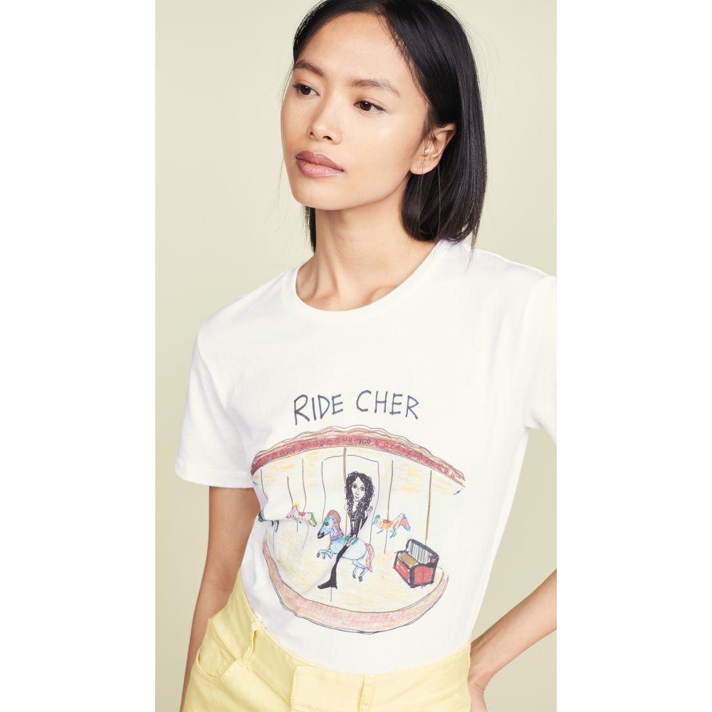 アンフォーチュネイト ポートレート Unfortunate Portrait レディース Tシャツ トップス【Ride Cher T-Shirt】White