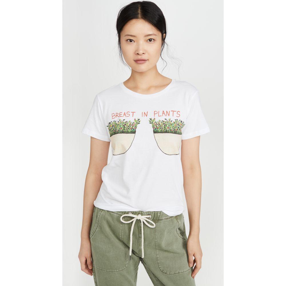 アンフォーチュネイト ポートレート Unfortunate Portrait レディース Tシャツ トップス【Breast In Plants Tee】White