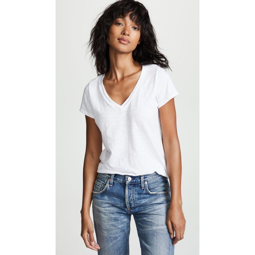 ベルベット グラハム&スペンサー Velvet レディース Tシャツ Vネック トップス【Jilian V Neck Tee】White