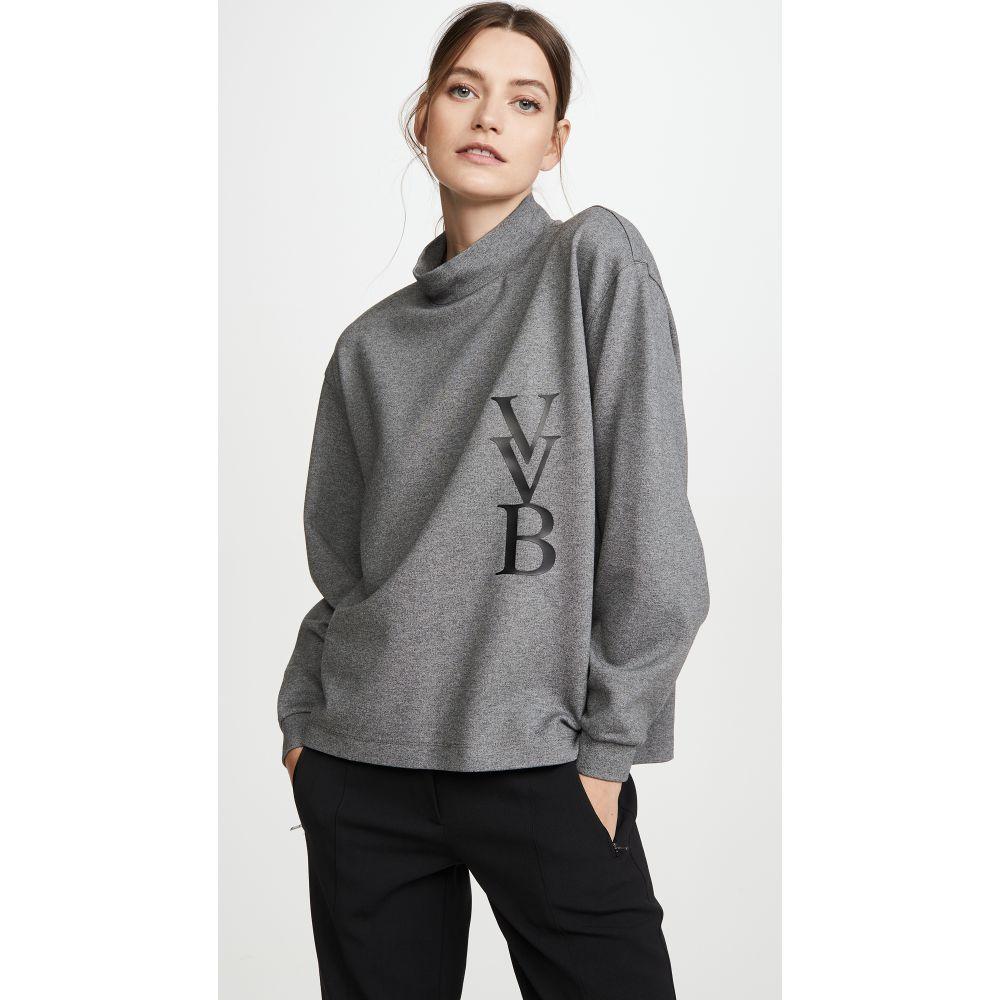 ヴィクトリア ベッカム Victoria Victoria Beckham レディース トップス 【Raised Logo Top】Grey