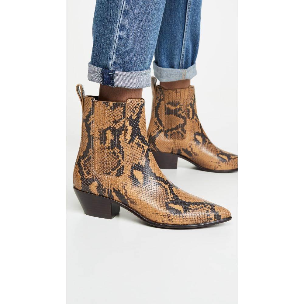 ロフラーランドール Loeffler Randall レディース ブーツ ブーティー シューズ・靴【Aylin Low Western Booties With Gore】Amber