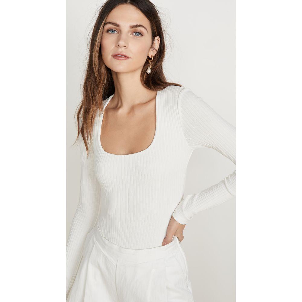 マラ ホフマン Mara Hoffman レディース ボディースーツ インナー・下着【Venus Bodysuit】White