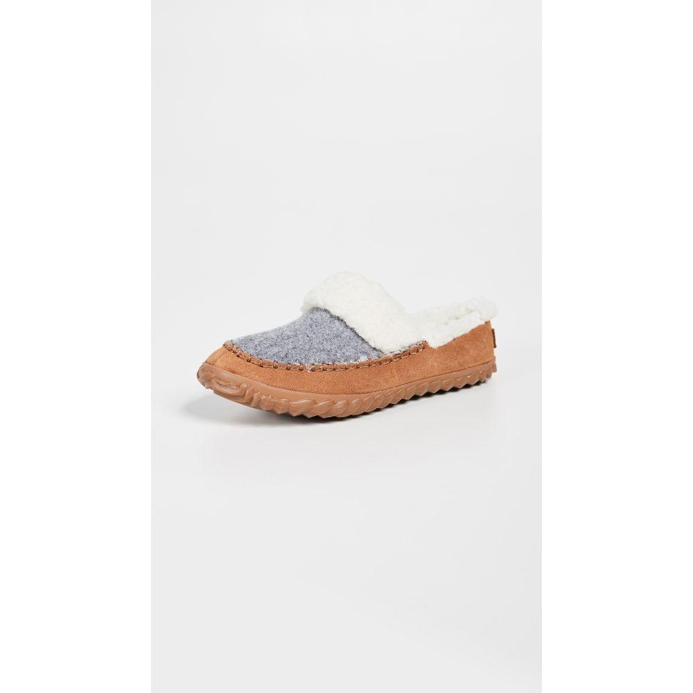 ソレル Sorel レディース スリッパ シューズ・靴【Out 'N About Slide Slip On Slippers】Light Grey/Natural