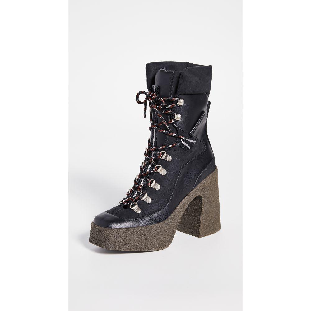 ステラ マッカートニー Stella McCartney レディース ブーツ レースアップブーツ シューズ・靴【Lace-Up Boots】Black/Gray