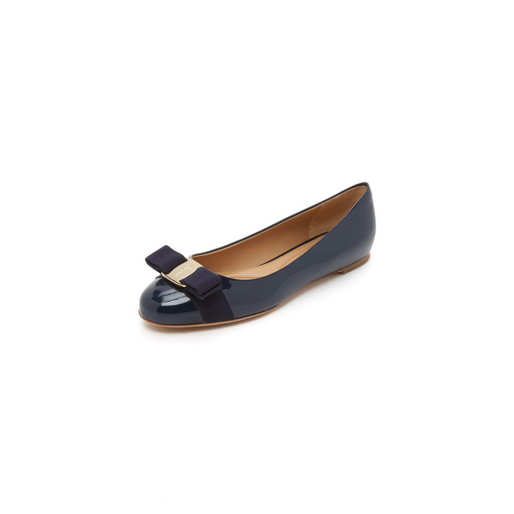 サルヴァトーレ フェラガモ Salvatore Ferragamo レディース スリッポン・フラット シューズ・靴【Varina Flats】Oxford Blue