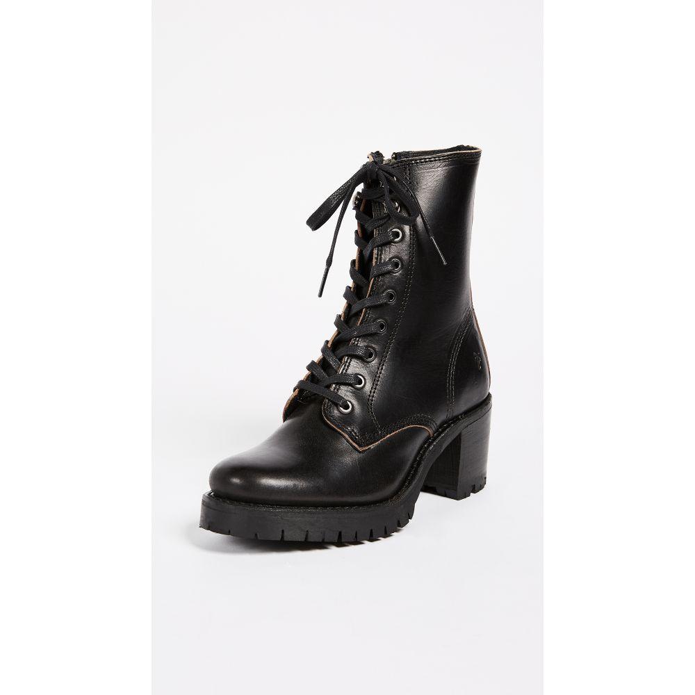 フライ Frye レディース ブーツ コンバットブーツ シューズ・靴【Sabrina Combat Heeled Boots】Black