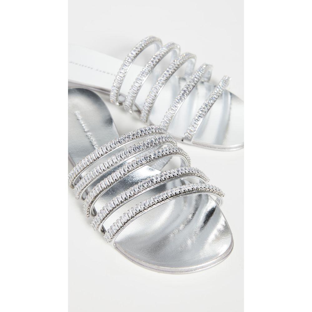 ジュゼッペ ザノッティ Giuseppe Zanotti レディース サンダル・ミュール シューズ・靴【NuvOroll Slides 10mm】Metal Silver