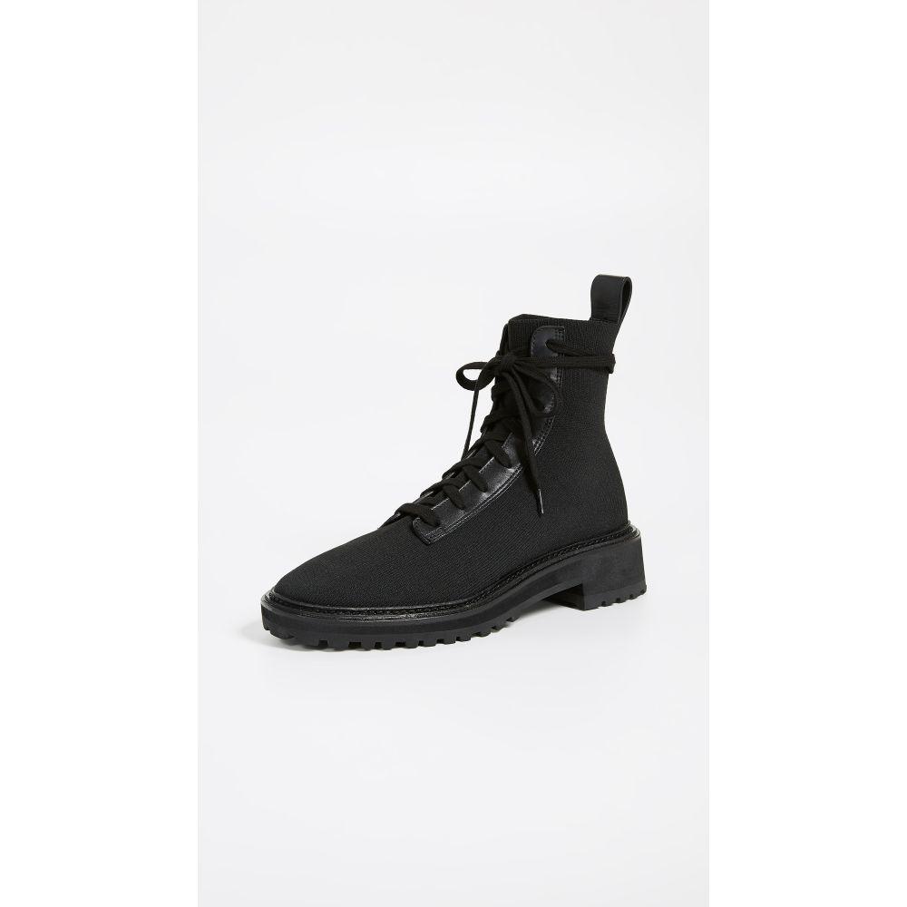 ロフラーランドール Loeffler Randall レディース ブーツ コンバットブーツ シューズ・靴【Brady Stretch Knit Combat Boots】Black