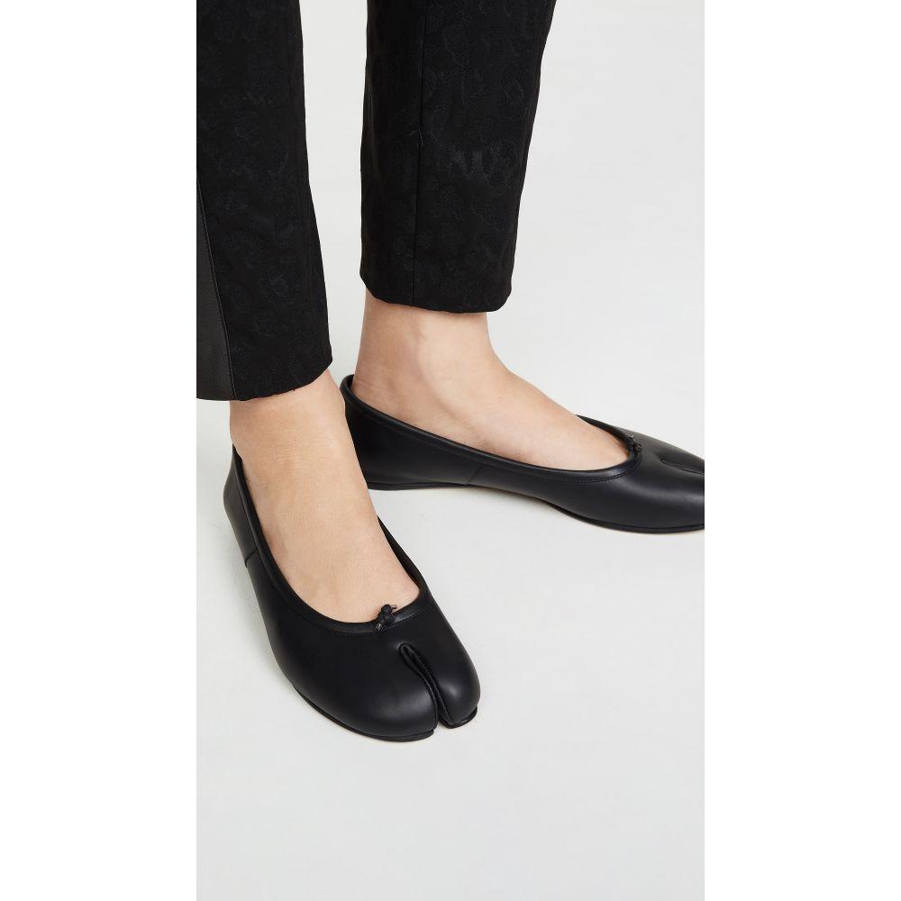 メゾン マルジェラ Maison Margiela レディース スリッポン・フラット シューズ・靴【Faux Leather Tabi Flats】Black