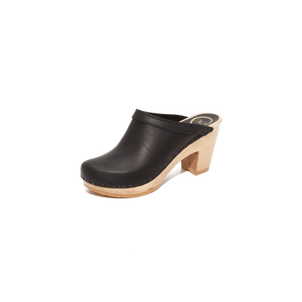 ナンバーシックス No.6 レディース クロッグ シューズ・靴【Old School High Heel Clogs】Black