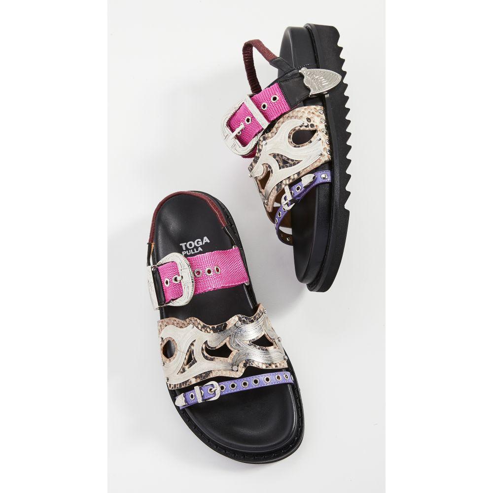 トーガ Toga Pulla レディース サンダル・ミュール シューズ・靴【Western Strap Sandals】Natural