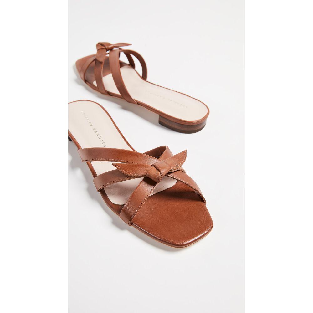 ロフラーランドール Loeffler Randall レディース サンダル・ミュール フラット シューズ・靴【Eveline Delicate Strap Flat Sandals】Cognac