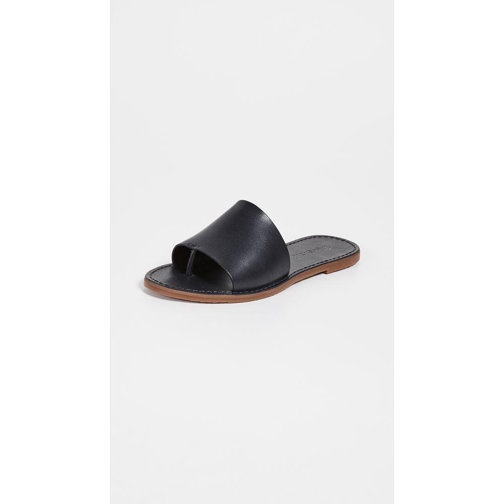 メイドウェル Madewell レディース サンダル・ミュール シューズ・靴【The Boardwalk Post Slide Sandals】True Black
