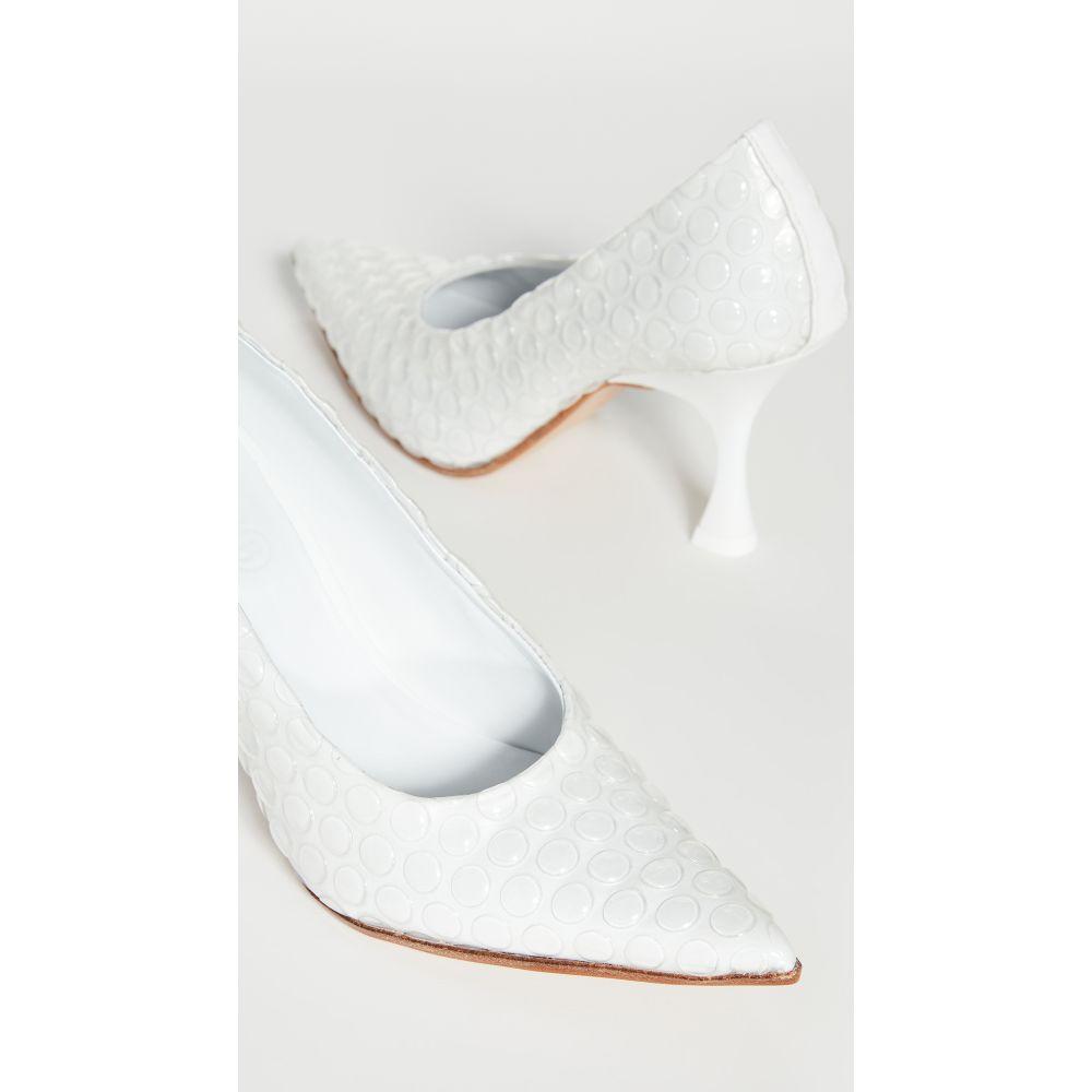 メゾン マルジェラ MM6 Maison Margiela レディース パンプス シューズ・靴【Point Toe Pumps】Transparent/Bright White