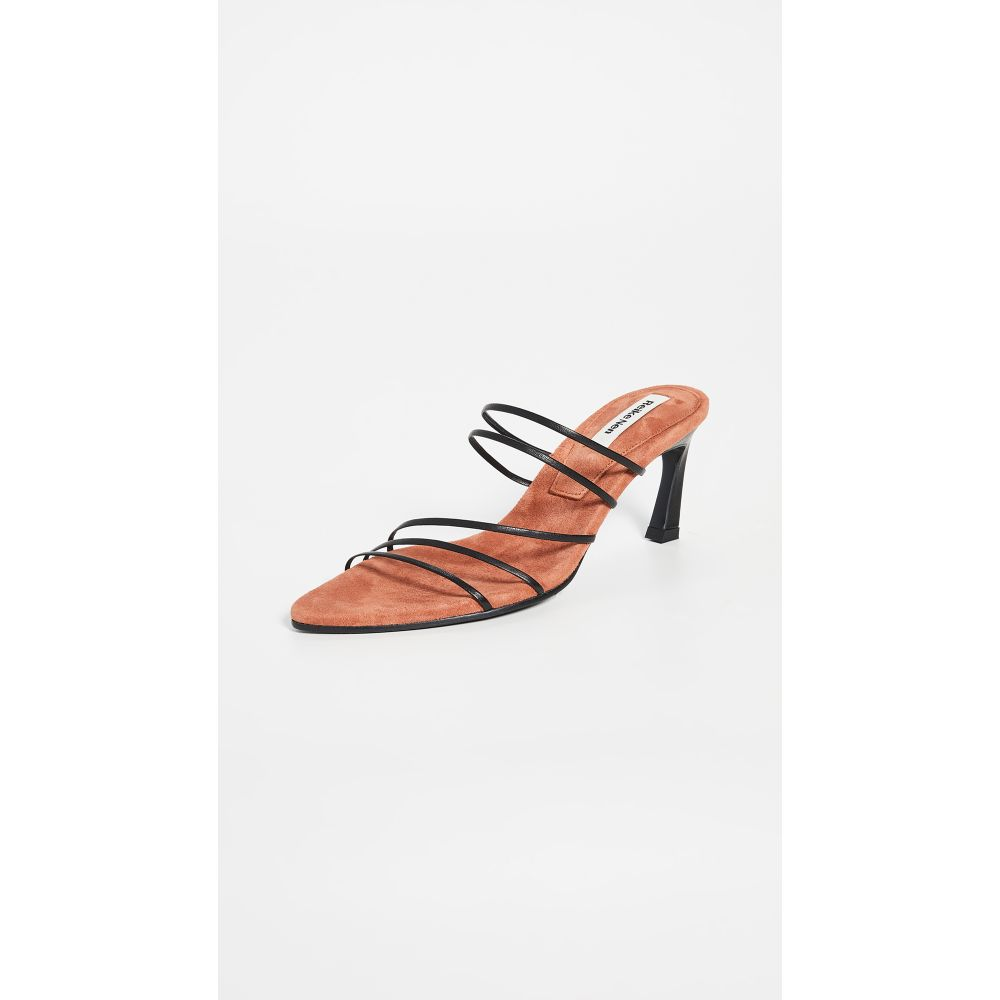 レイクネン Reike Nen レディース サンダル・ミュール シューズ・靴【Five Strings Pointed Sandals】Black/Rose Pink