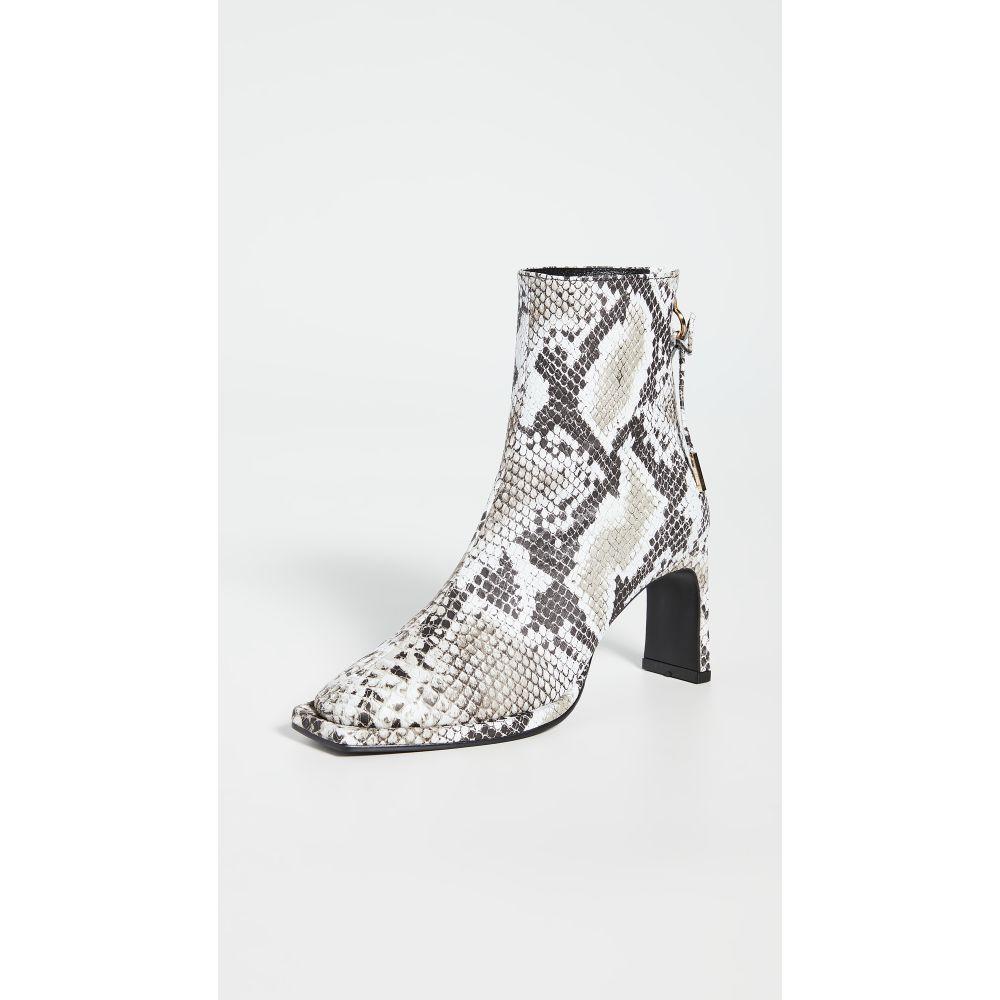 レイクネン Reike Nen レディース ブーツ シューズ・靴【Ribbon Square Thin Boots】White/Black Multi