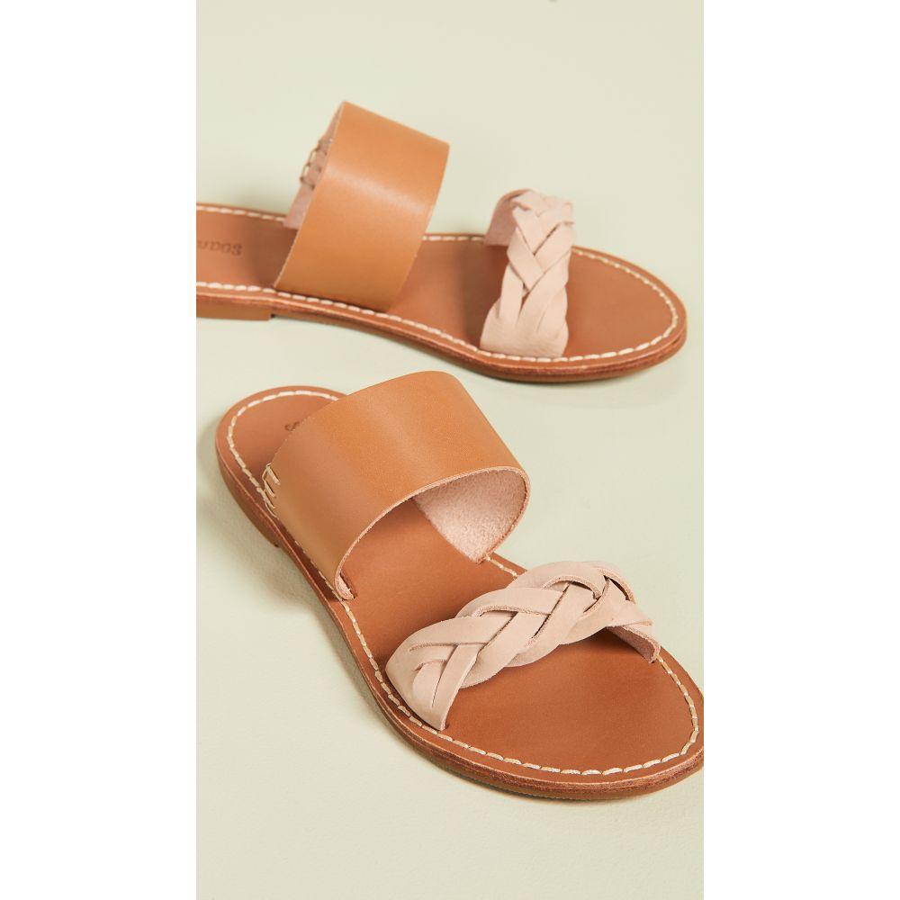 ソルドス Soludos レディース サンダル・ミュール シューズ・靴【Braided Slide Sandals】Acorn Brown