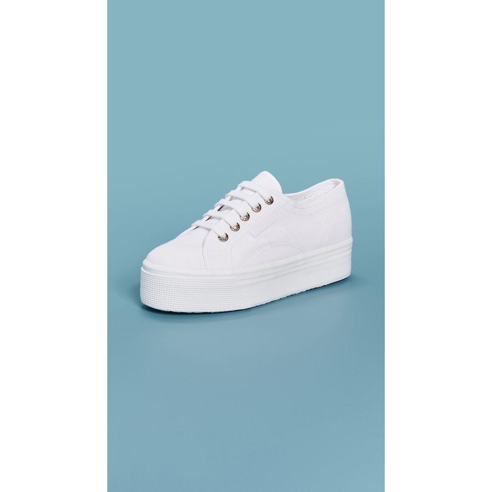 スペルガ Superga レディース スニーカー シューズ・靴【2790 Platform Sneakers】White/Gold