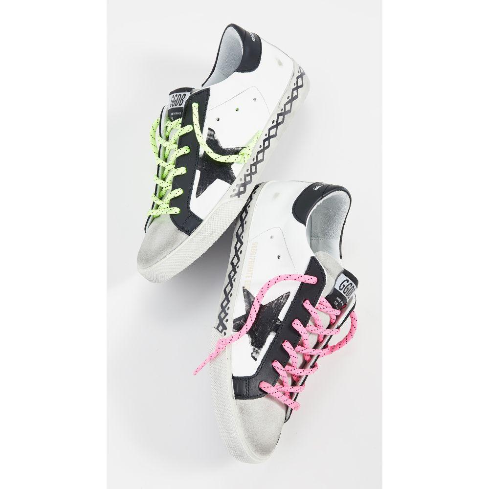 ゴールデン グース Golden Goose レディース スニーカー シューズ・靴【Superstar Scribble Sneakers】White/Black Tattoo