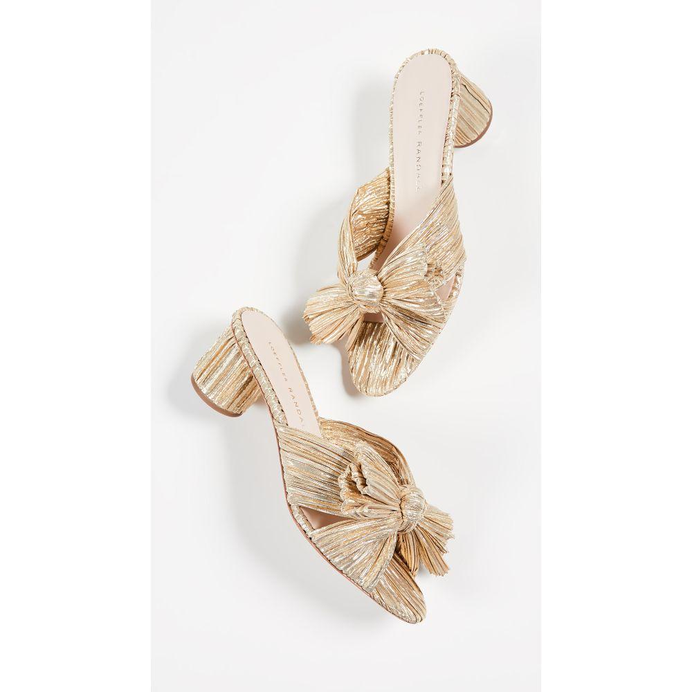 ロフラーランドール Loeffler Randall レディース サンダル・ミュール シューズ・靴【Emilia Pleated Knot Mules】Gold